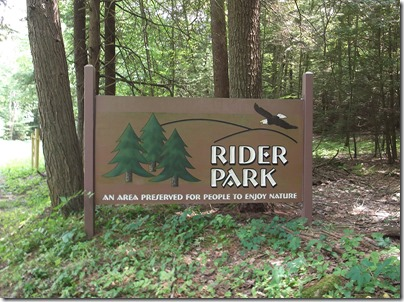 Rider Park Sign